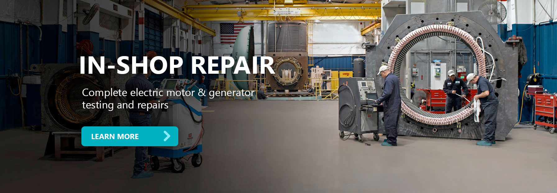 IPS In-shop electric motor and generator Repair