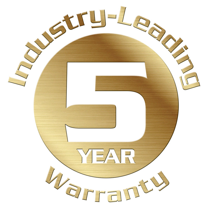 IPS industry-leading 5 year warranty