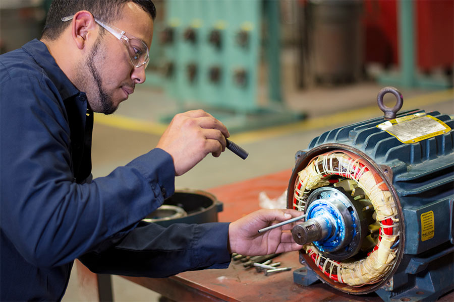 IPS dedicated small electric motor repair