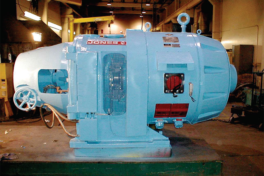 Jones refiner motor for paper and pulp industry